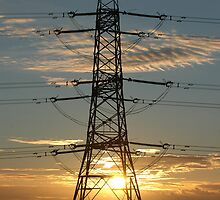 """""""4YV Tower and Sunset"""" by Jimmy Deas"""