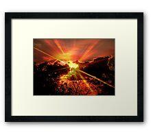 Sun rays © Framed Print