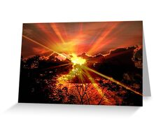 Sun rays © Greeting Card