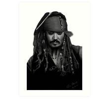 Johnny Depp as Jack Sparrow Art Print