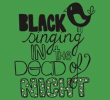 Blackbird Singing in the Dead of Night Baby Tee