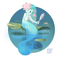 Lilypad Mermaid Photographic Print