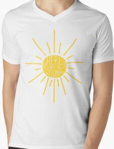 Here Comes the Sun Mens V-Neck T-Shirt