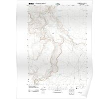 USGS Topo Map Oregon Lambert Rocks 20110819 TM Poster