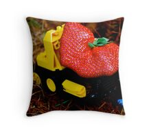 Strawberry load Throw Pillow