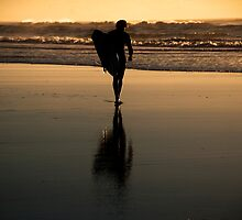 Sunrise Surfer by Andrew Dickman
