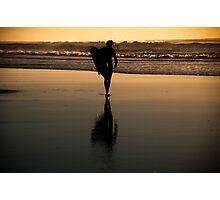 Sunrise Surfer Photographic Print