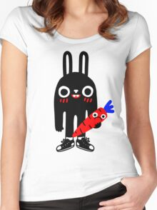 Rabbit Lunch Time Women's Fitted Scoop T-Shirt