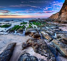 Caves Beach Lines - Swansea NSW by Ian English