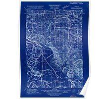 USGS Topo Map Oregon Sidney 282188 1915 31680 Inverted Poster