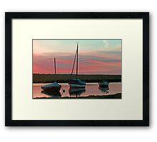 Blakeney Boats Framed Print
