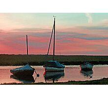 Blakeney Boats Photographic Print