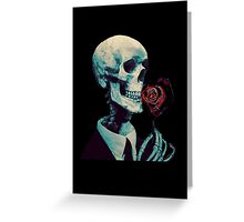 Smelling Dead Roses Greeting Card