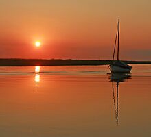 Sunset at Blakeney by Beverley Barrett
