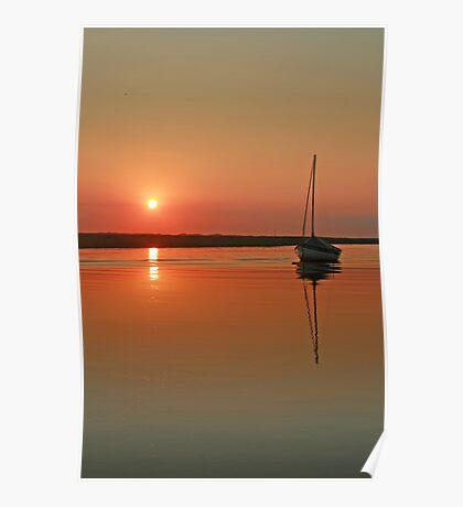 Sunset at Blakeney Poster