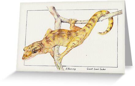 Giant Cave Gecko by bushpalette