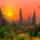 Sunrise at Buck Mountain by Charles & Patricia   Harkins ~ Picture Oregon