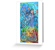 Winged Beauty-Acrylic Greeting Card