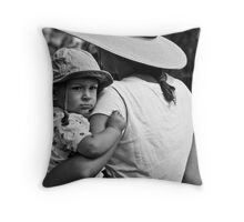 Cynical Poser Throw Pillow