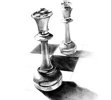 Gender chess drawing by HermesGC