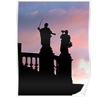 Statues in Santiago de Compostela Poster