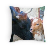 Bujoara and Her 4 day Old Baby Throw Pillow