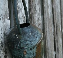 old watering can by Hope A. Burger