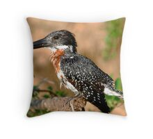 Tanzania - Giant kingfisher Throw Pillow