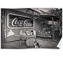 The Cat,Cart,Car and Coca-Cola Poster
