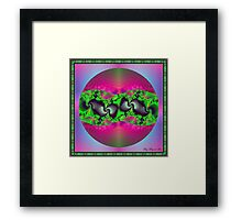 Linking Continents Framed Print