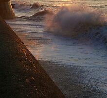 Cromer high tide by Paul Ward