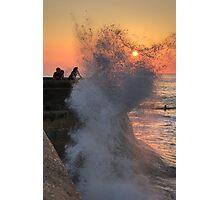 Cromer high tide soaking Photographic Print