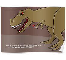 Dinosaur Balloon Oblivion Poster