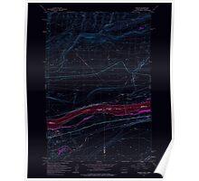 USGS Topo Map Washington Irrigon 241671 1962 24000 Inverted Poster