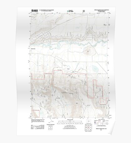 USGS Topo Map Oregon Sprague River East 20110719 TM Poster