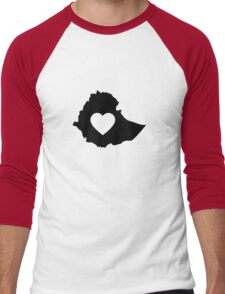 A piece of my heart is in Ethiopia Men's Baseball ¾ T-Shirt