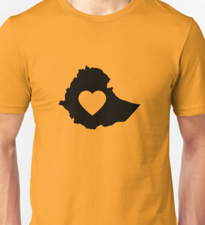 A piece of my heart is in Ethiopia Unisex T-Shirt