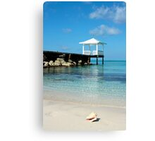 bahamas beach vertical Canvas Print