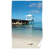 bahamas beach vertical Poster