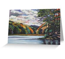 Moving Clouds Over Autumn Colors Greeting Card
