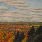 Clouds Over Autumn Landscape by Richard Nowak