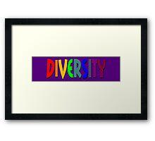 Rainbow Diversity Framed Print