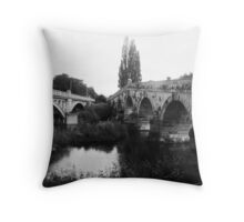 Old meets new Throw Pillow
