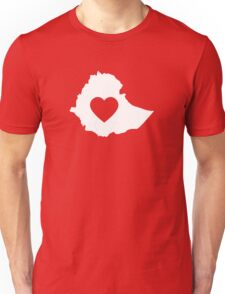 A piece of my heart is in Ethiopia (White) Unisex T-Shirt