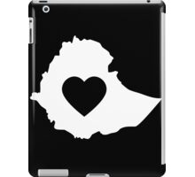 A piece of my heart is in Ethiopia (White) iPad Case/Skin
