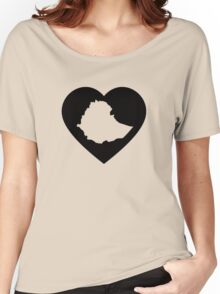 I Heart Ethiopia (Black) Women's Relaxed Fit T-Shirt