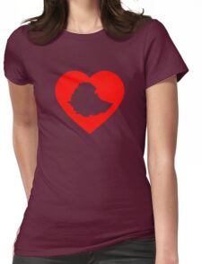 I Heart Ethiopia (Red) Womens Fitted T-Shirt