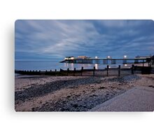 Cromer Pier after sunset Canvas Print