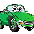 Convertible Green Sports Car by Graphxpro