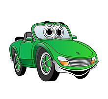 Convertible Green Sports Car Photographic Print